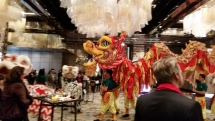 dragon and lion dance welcome