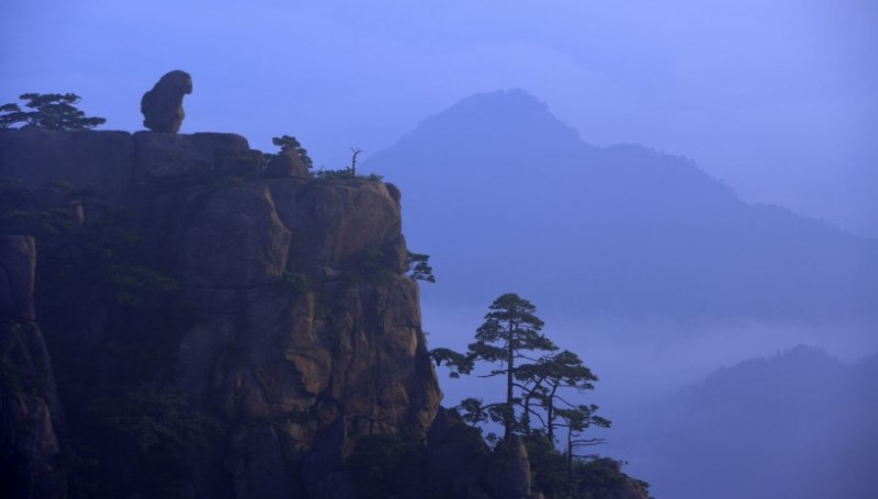 Mt Huangshan: Sea of Cloud, Pine Trees and Rocks