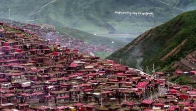 A Sea of Red in Larung Gar Buddhist Academy, West Sichuan
