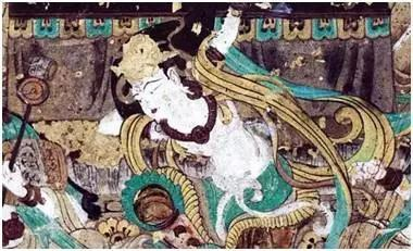 The dancer playing pipa backhand, Mogao Grottoes